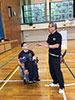 [写真]北海道ボッチャ協会の樋口理事長と鍛選手