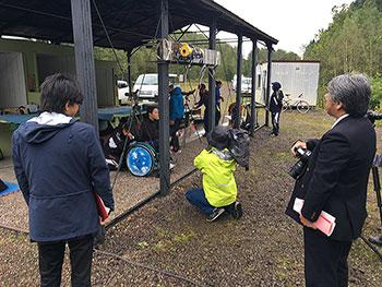 [写真]網走合宿での練習公開日の様子