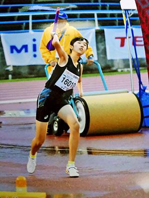 [写真]ジャベリックスロー競技の岩本選手