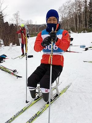 [写真]初めてのシットスキーです