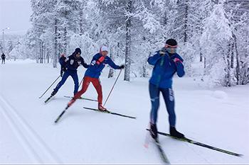 [写真]フィンランド合宿での阿部選手