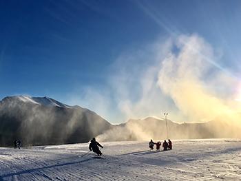 [写真]シットスキーのトレーニング
