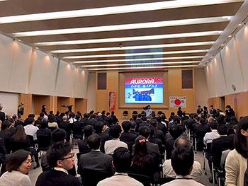 [写真]200人の社員が集まった会場