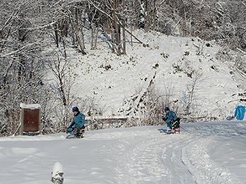 [写真]コースを滑走する二人