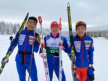 [写真]オープンリレーに出場した新田佳浩、佐藤圭一、川除大輝