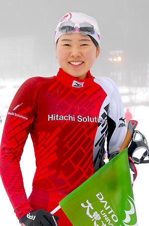 [写真]阿部友里香選手、競技後の笑顔