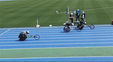 [写真]100mレース3位の馬場選手