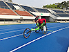 [写真]駒沢オリンピック公園でトレーニングする馬場選手