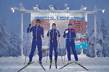 [写真]サーリセルカのスキーコース案内板