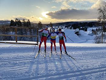 [写真]ノルウェーの太陽を背景に