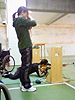 [写真]長田選手と阿部コーチ