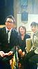 [写真]石田正子さん、阿部コーチ、久保恒造