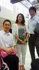 [写真]左から久保選手、トーレス理花さん、新田選手