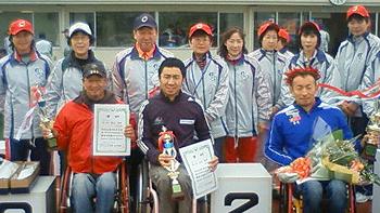 [写真]大田原車いすマラソン大会表彰式