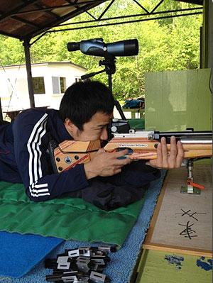 [写真]バイアスロン トレーニング