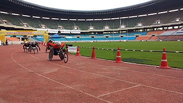 [写真]ソウル国際車いすマラソンが行われた競技場