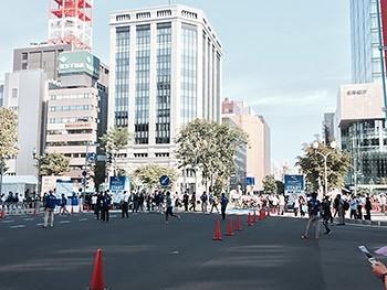 [写真]北海道マラソン・はまなす車いすマラソンスタート地点