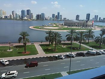 [写真]ドバイでホテルからの風景