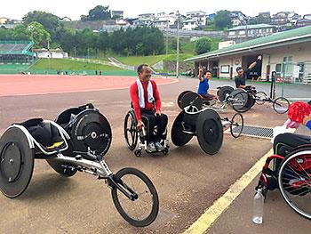 [写真]合宿地福岡の競技場