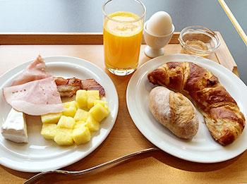 [写真]スイスでの食事