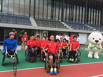 [写真]リオデジャネイロパラリンピック陸上日本代表候補選手たち