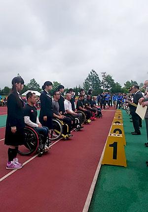 [写真]第31回釧路湿原全国車いすマラソン大会 表彰式