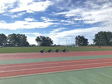 [写真]久保恒造選手のトレーニング