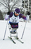 [写真]ワールドカップ・アメリカ大会の雪原を走る久保恒造選手幸