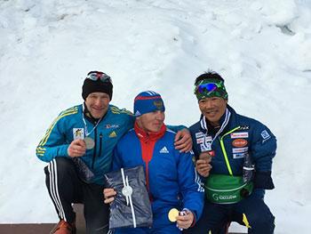 [写真]ワールドカップフィンランド大会で銅メダルを獲得した新田佳浩選手