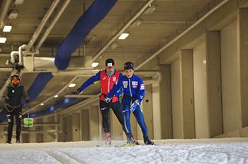 [写真]川除選手の雪上トレーニング