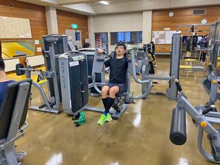 [写真]パワートレーニングに取り組む新田佳浩選手