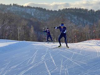 [写真]雪上トレーニングの様子