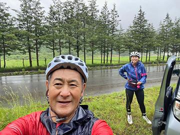 [写真]阿部選手AURORA合宿in野辺地