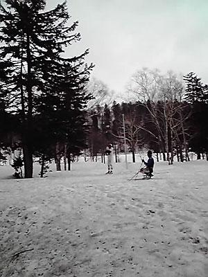 [写真]雪山でのトレーニングの様子