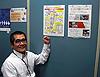 [写真]職場内に掲示している手作りのポスター