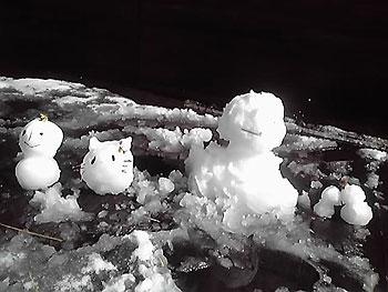 [写真]雪だるま