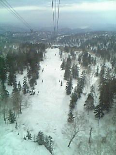 [写真]ロープウェイから見る旭岳