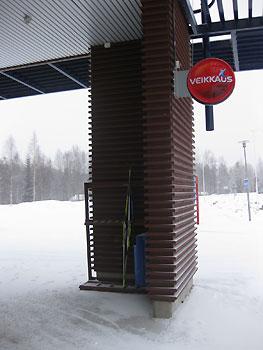 [写真]スキー置き場