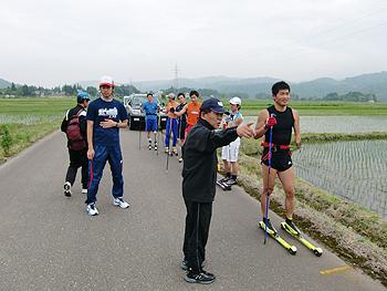 [写真]スピード持久トレーニングの様子