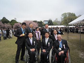 [写真]スレッジ、アルペンチームと新田佳浩