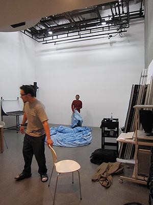 [写真]スタジオ撮影の様子