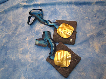 [写真]金メダルの撮影