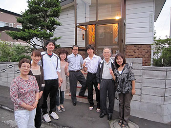 [写真]札幌の祖叔父の家族