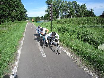 [写真]網走合宿でのトレーニング風景