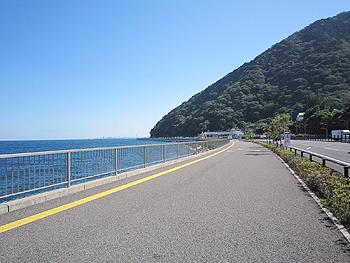 [写真]海岸沿いから見える大分市