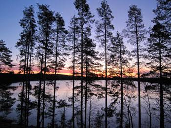 [写真]フィンランドの朝焼け