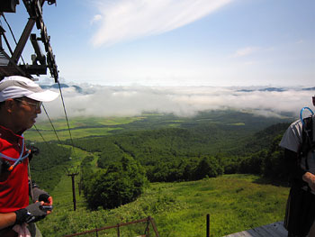 [写真]北大雪スキー場から見える景色