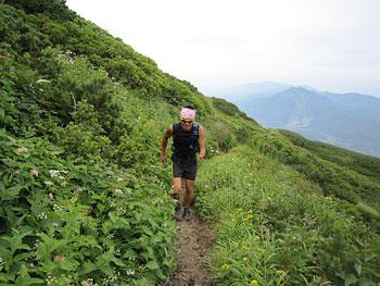 [写真]登山途中の新田佳浩