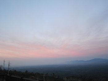 [写真]小清水高原からの夕焼け