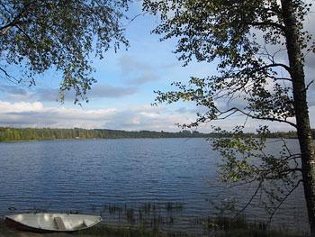 [写真]フィンランド、宿舎から見える景色